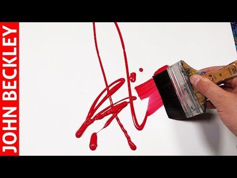 Peinture Abstraite Au Couteau à L Acrylique Ignis Youtube