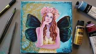 FAIRY Painting Tutorial & a FREE GIFT for EVERYONE WHO WATCHES!!!!