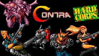 Contra Hard Corps SEGA Walkthrough (No Death, All Endings)