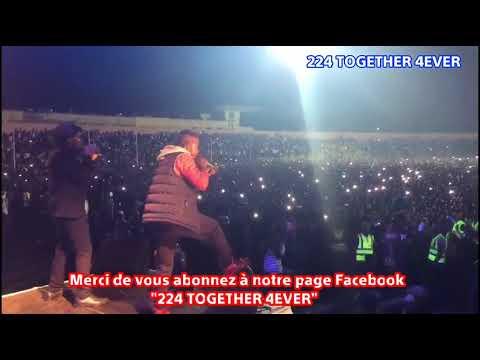 Concert du groupe Banlieuz'Aert au stade du 28 septembre de Conakry (01/01/2018)