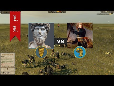 Attila Total War - Online Battle - 1vs1 Jutes vs Langobards  (#128) |