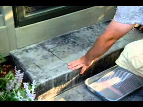 How To Restore Your Stamped Concrete Color and Sealer www SealGreen com  800-9973873