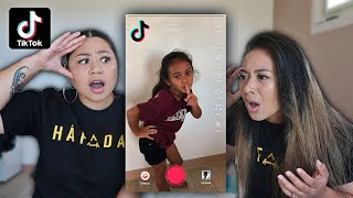 REACTING TO OUR 6 YEAR OLD NIECE'S TIKTOKS!! *SHOCKING*
