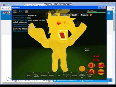 Dragon Ball RP:Legends-How To Get Great Ape,Golden Great Ape,SSJ4 & Mystic