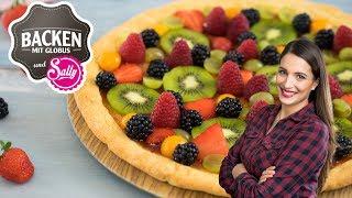 Fruchtpizza   Backen mit Globus & Sallys Welt #38