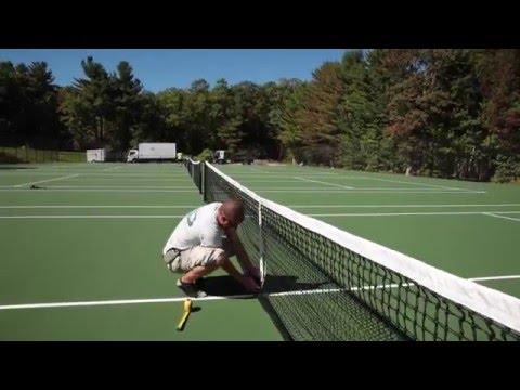 Post Tensioned Concrete Tennis Court Construction