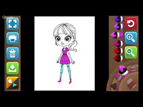 Colorindo Bonequinha - Coloring Doll