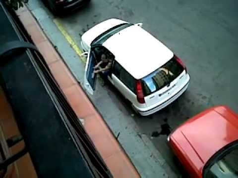 Good girl!!! Fast car parking  YES!....it`s a spanish women!!!