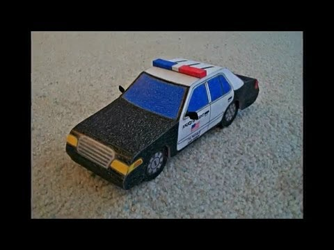 Papercraft Paper Model of a Police Car