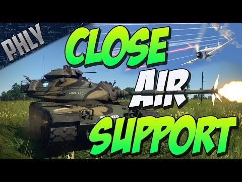 M60A1 & P-47N CLOSE AIR SUPPORT - (War Thunder Tanks Gameplay)