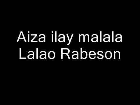 Aiza ilay malala Lalao Rabeson