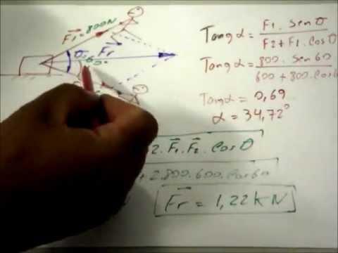 Cálculo de força resultante /resultant force