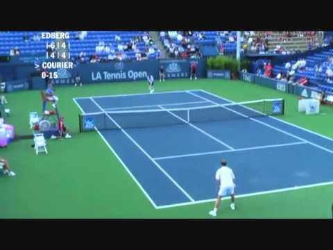 Stefan Edberg vs Jim Courier - Los Angeles 2009 (6 de 8)