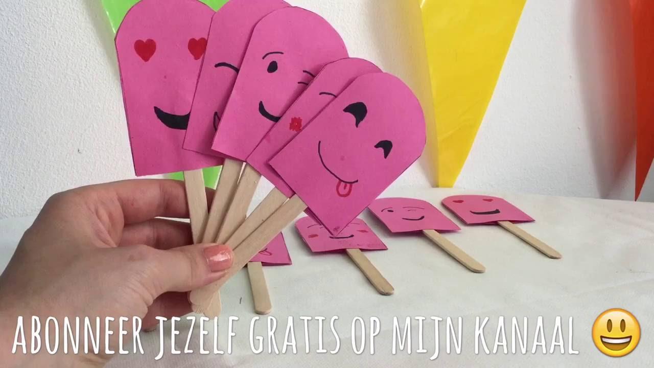 Super ♥ #DIY IJS MEMORY MET EMOJI MAKEN ♥ KNUTSELEN MET PAPIER @ZL69