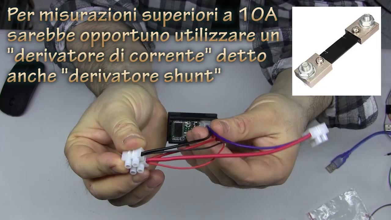 Schema Elettrico Voltmetro Per Auto : Collegamento corretto di un voltmetro amperometro digitale senza