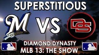 SUPERSTITIOUS! - Milwaukee Brewers vs. The Dunbar Snackbars: MLB 13 The Show - Diamond Dynasty