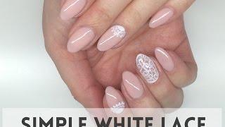 Simple White Lace Nails  |  koronkowe paznokcie  || My Wonderland