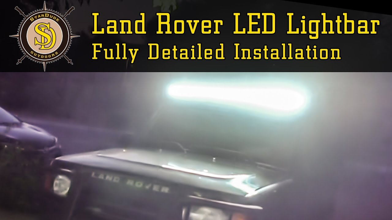 52 in LED Light Bar Installation on 1999 Land Rover Discovery 2 Wiring Led Light Bar on