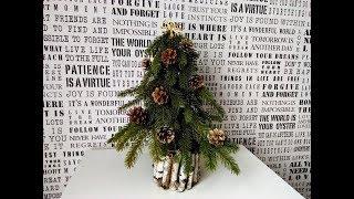 DIY jak zrobić małą choinkę  ,Christmas tree ,winter decorations