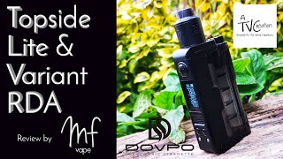 Topside Lite/Variant RDA Kit | Dovpo/TVC | 2 in 1 Squonk Mod | 21700 | Full Review