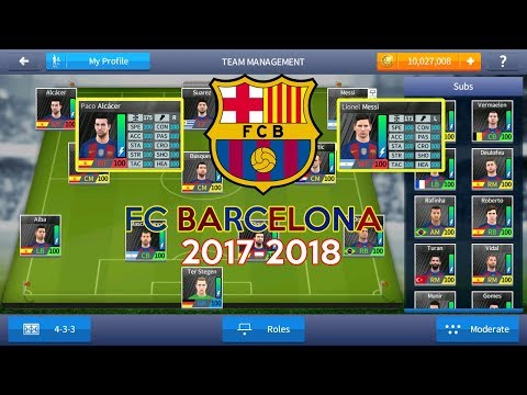 FC BARCELONA 2017-2018 - Dream League Soccer 2017 Save Data With 100 Power