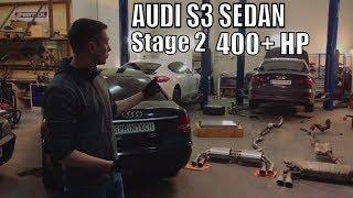 Audi S3 Sedan Stage2 400+лс, cобираем и тестируем.
