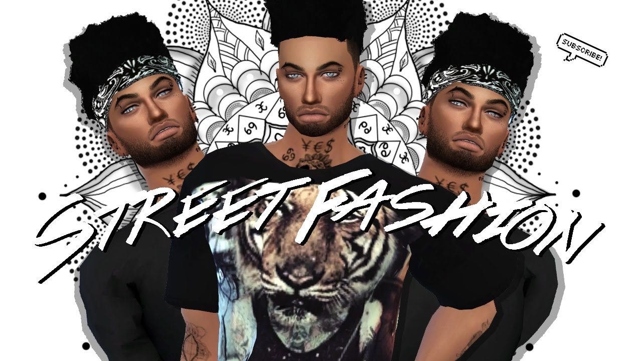Sims 4 Male Cas Street Fashion Collab W Hisimmer Full Cc List Amp Sim Youtube