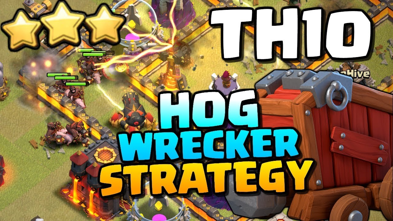 "The AMAZING ""Hog Wrecker"" ATTACK STRATEGY at TH10 