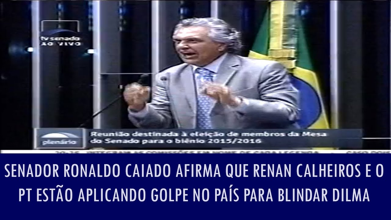 """Senador Caiado: """"Renan sangra o Brasil!"""""""
