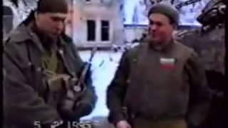 Гибель Майкопской бригады сьемки Грозный 1995 with ENG subs
