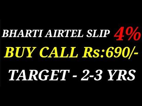BHARTI AIRTEL SLIP 4% BUY CALL, TARGET BY MONEY MANTRA