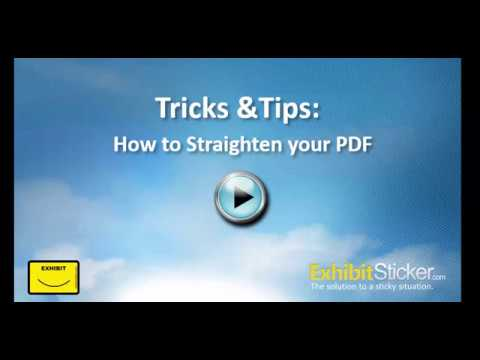 How to Straighten a PDF Document (Hidden Trick)