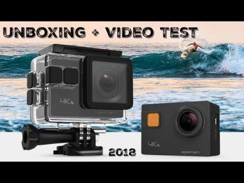 unboxing test apeman a80 2018 action kamera wifi 4k. Black Bedroom Furniture Sets. Home Design Ideas