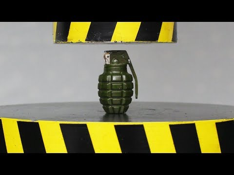 EXPERIMENT HYDRAULIC PRESS 100 TON vs BOMB (Lighter)