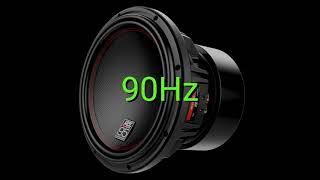 Tone frequency 90Hz. Test your hearing! speakers/headphones/subwoofer