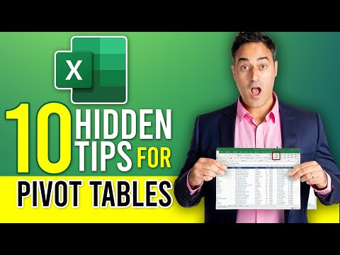Top 10 Excel Pivot Table Tips - Excel 2013, 2010 & 2007