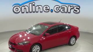 A10159TT Used 2014 Dodge Dart SXT FWD 4D Sedan Red Test Drive, Review, For Sale