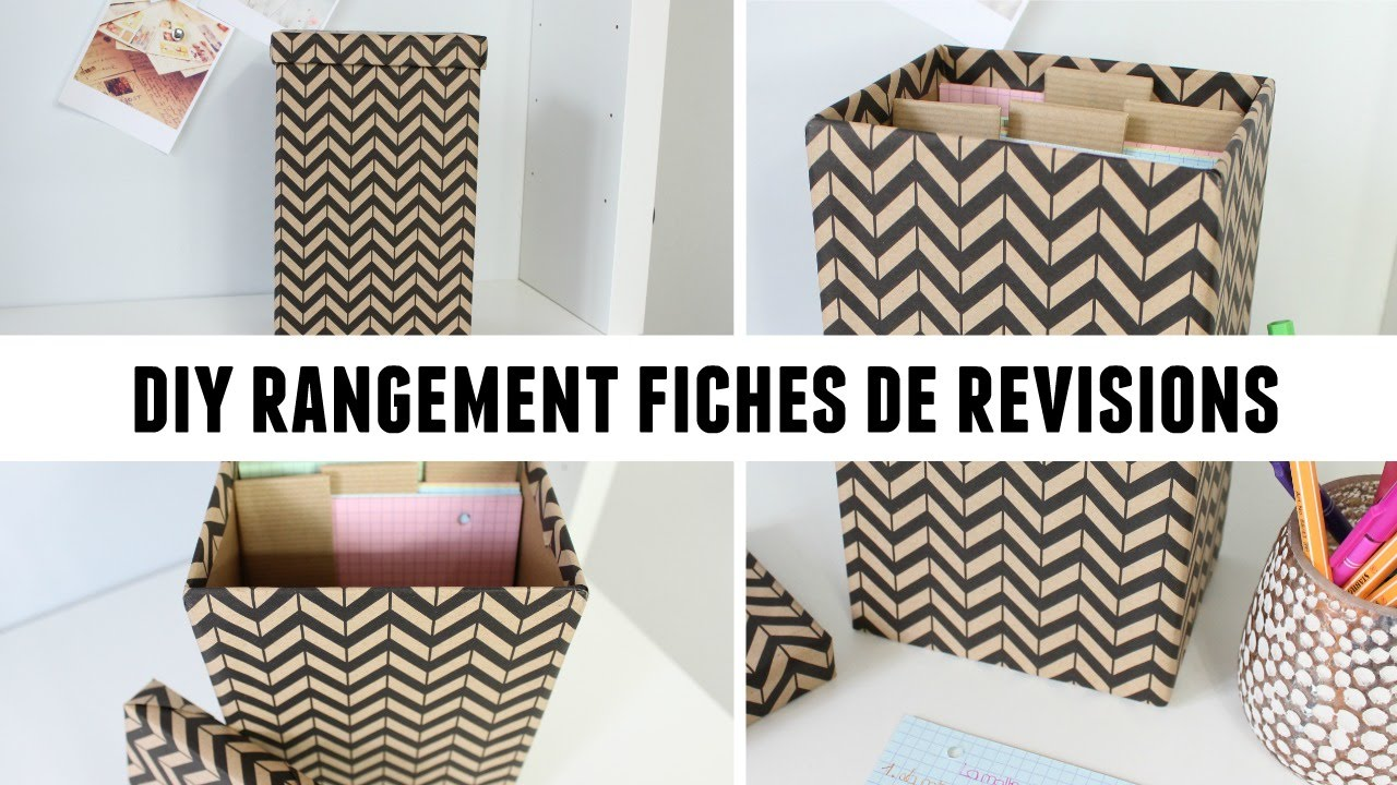 diy 1 boite en carton pour vos fiches de r visions youtube. Black Bedroom Furniture Sets. Home Design Ideas