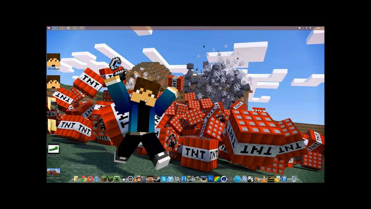 TUTO - Comment avoir un fond d'écran minecraft ... - Fond D'ecran Minecraft
