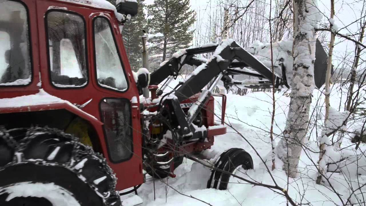 volvo bm buster  plowing snow sweden youtube