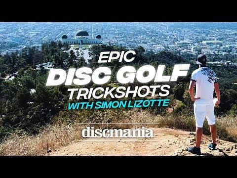 Epic Disc Golf Trick Shots with Simon Lizotte 2018
