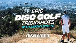 Epic Disc Golf Trick Shots with Simon Lizotte 2018