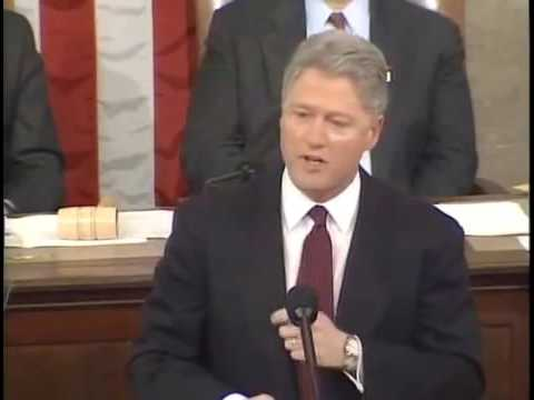 1996 State Of The Union - President Bill Clinton