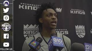 De'Aaron Fox is ready for opening night against the Jazz