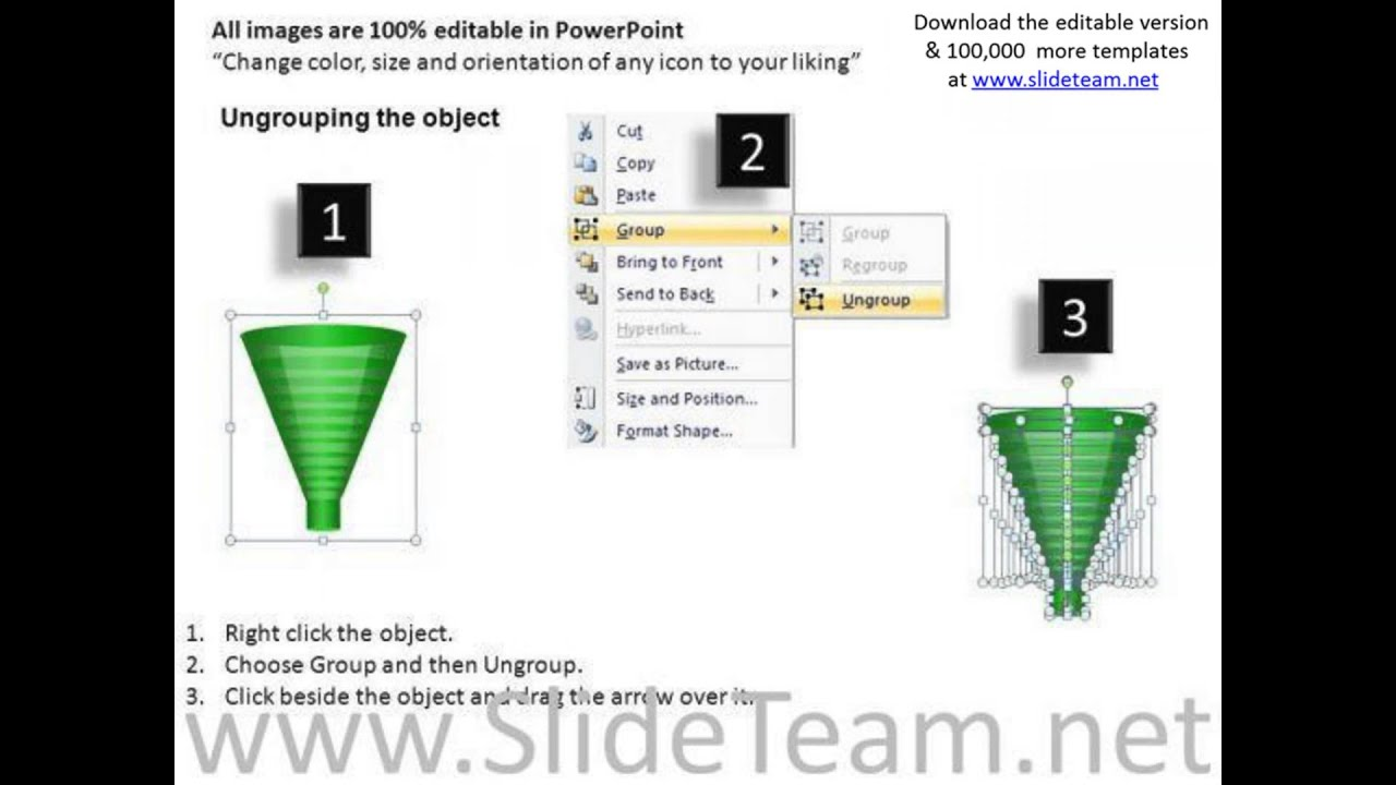 download editable sales funnel powerpoint slides and ppt diagram, Modern powerpoint
