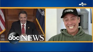 Andrew Cuomo chats with his brother during coronavirus press briefing