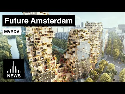 Future Amsterdam - 'Valley' by MVRDV Tops out in Zuidas District