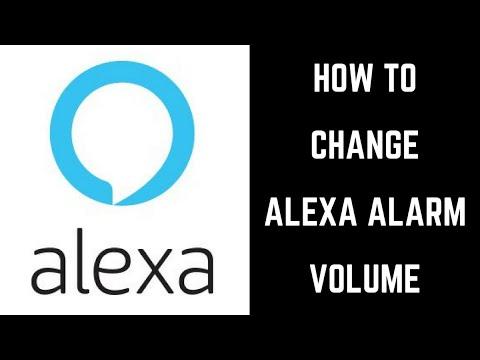 How to Change Alexa Alarm Volume