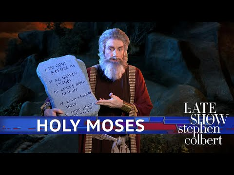 See Late Show Skit - Moses Updates The Ten Commandments!