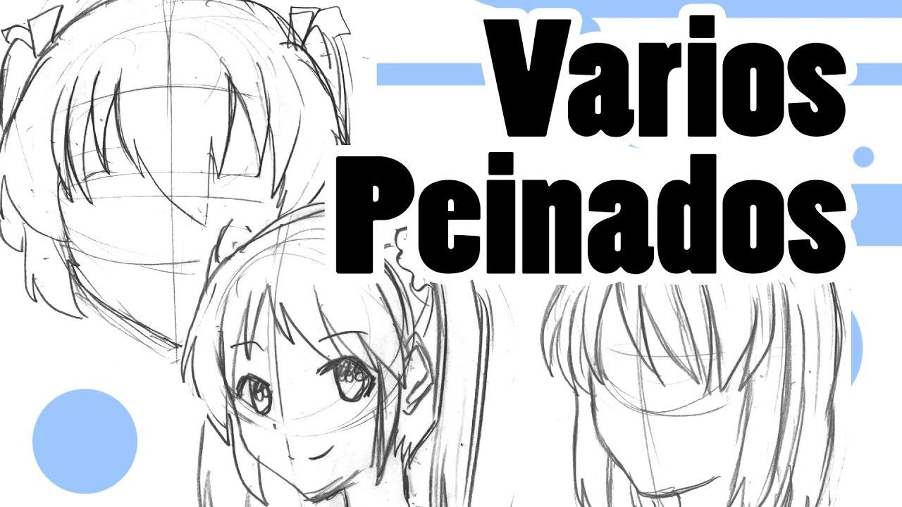 Como Dibujar Manga Varios Peinados De Frente Y 3 4 Chicas Youtube